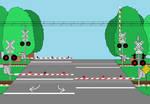 Midwest Steel Crossings GIF 2 (NICTD Train Coming)