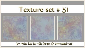 Texture set 51 by generosa