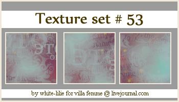 Texture set 53 by generosa