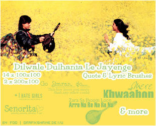 DDLJ-Text Brushset by FooWater
