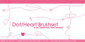 Dot-Heart Brushset