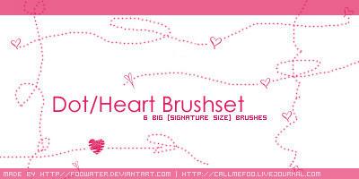 Dot-Heart Brushset by FooWater