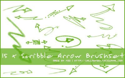 Scribble Arrow Brushset by FooWater