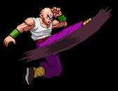 Hyper DBZ - Tien - aerial Shaolin Spin Kicks