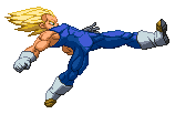 SSJ Vegeta - new standing Strong Kick by Balthazar321