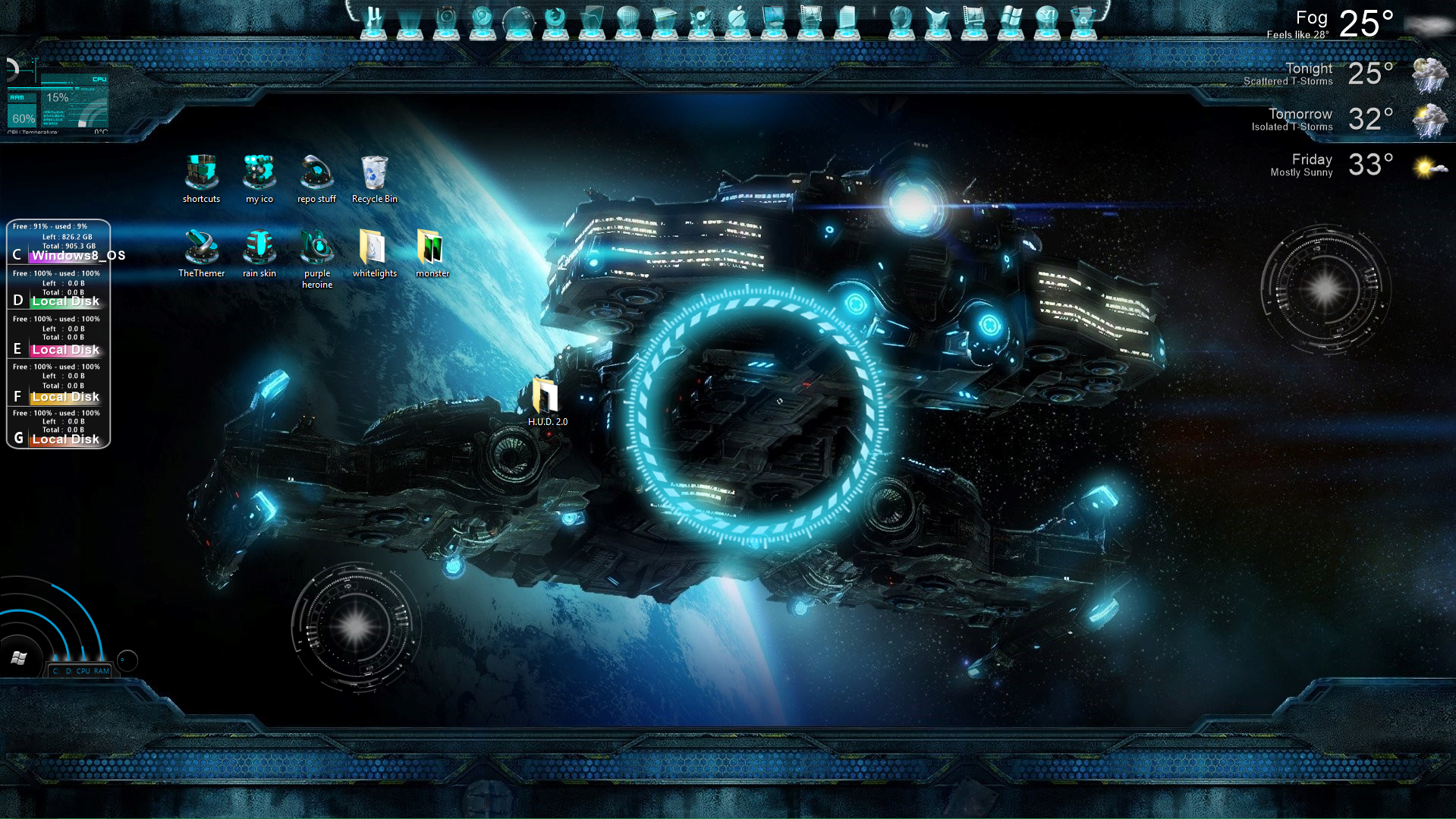 Windows 8 background image disappears -  H U D 2 0 Full Theme Pack For Windows 8 By Thethemer