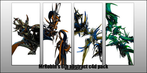 MrRobin abstract c4d pack 6