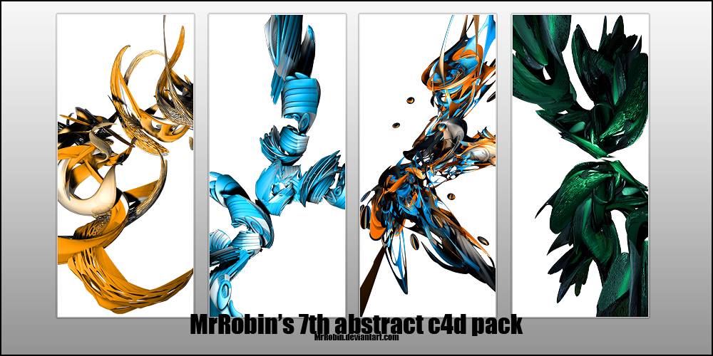MrRobin abstract c4d pack 7