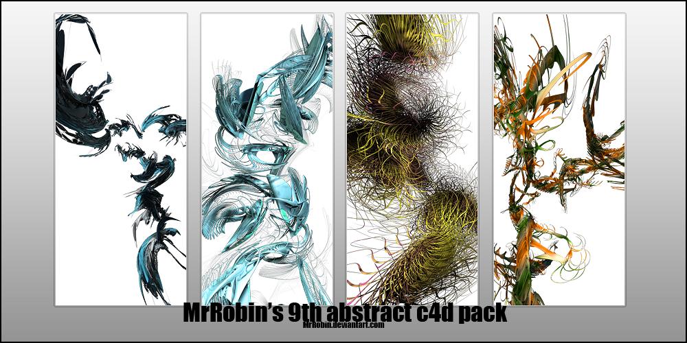 MrRobin abstract c4d pack 9 by MrRoBiN