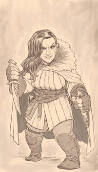 Female Dwarf Sketch .gif Process