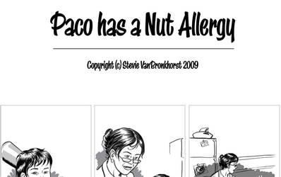 Paco has a nut allergy.