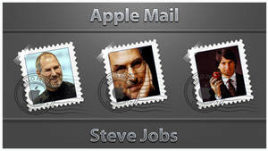 Steve Jobs Apple mail icons pack by D1m22