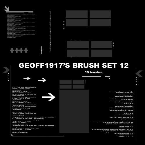 Geoff1917's Brushset 12 by geoff1917