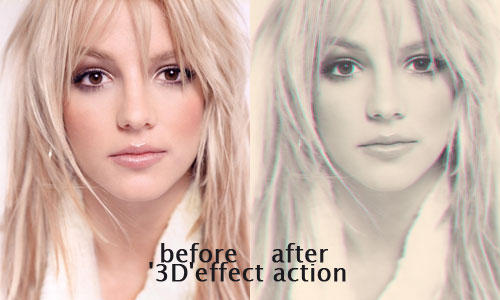 3D effect action by OvOsmile
