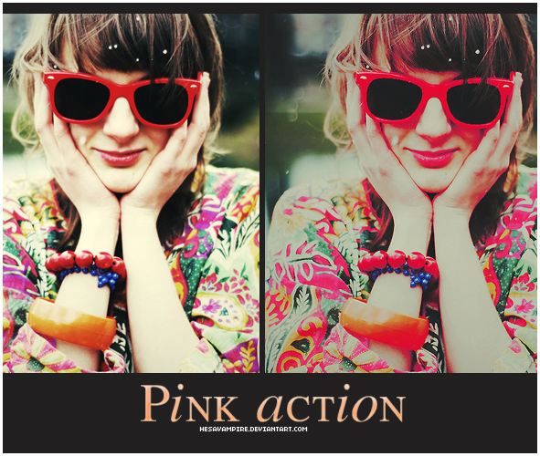 Pink action