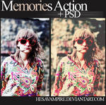 Memories action and PSD