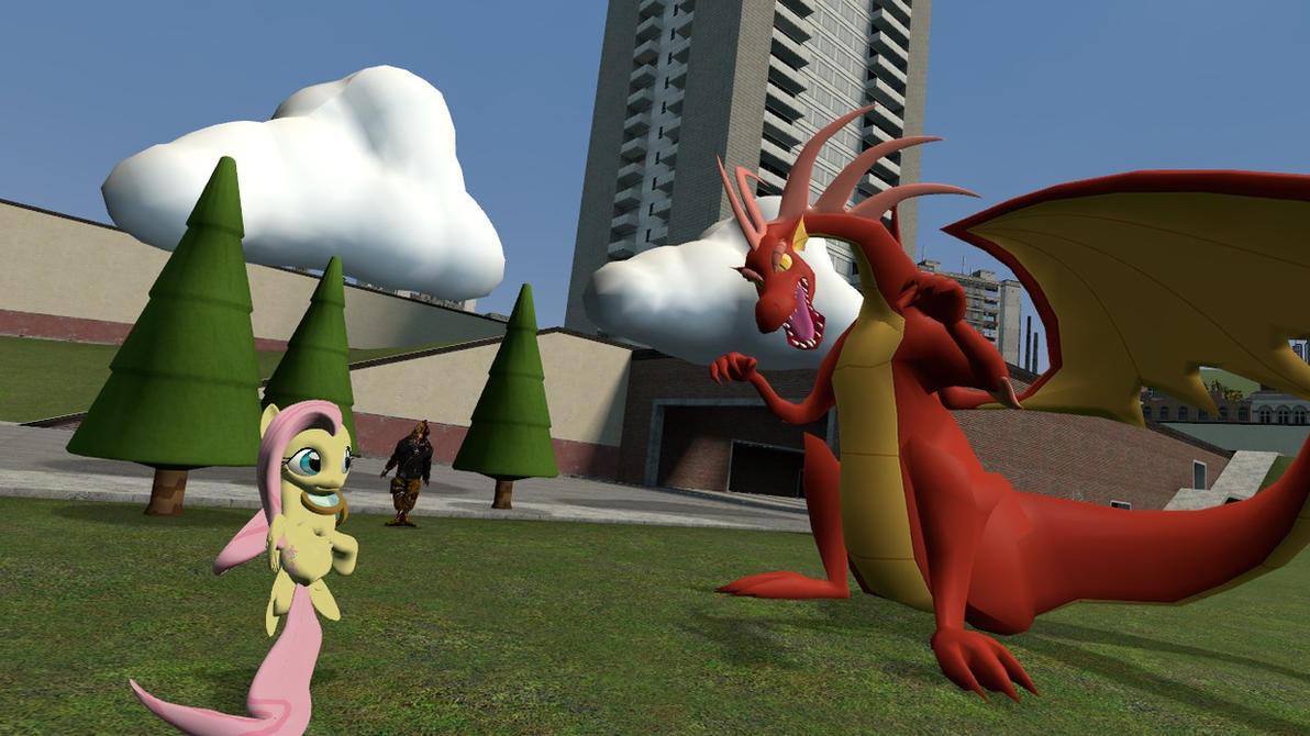 [DL] Dragon shy by CobbaltCO