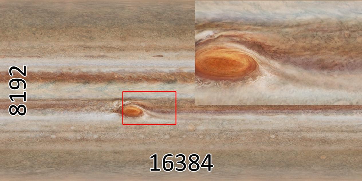 16K Jupiter texture map by Master-Bit