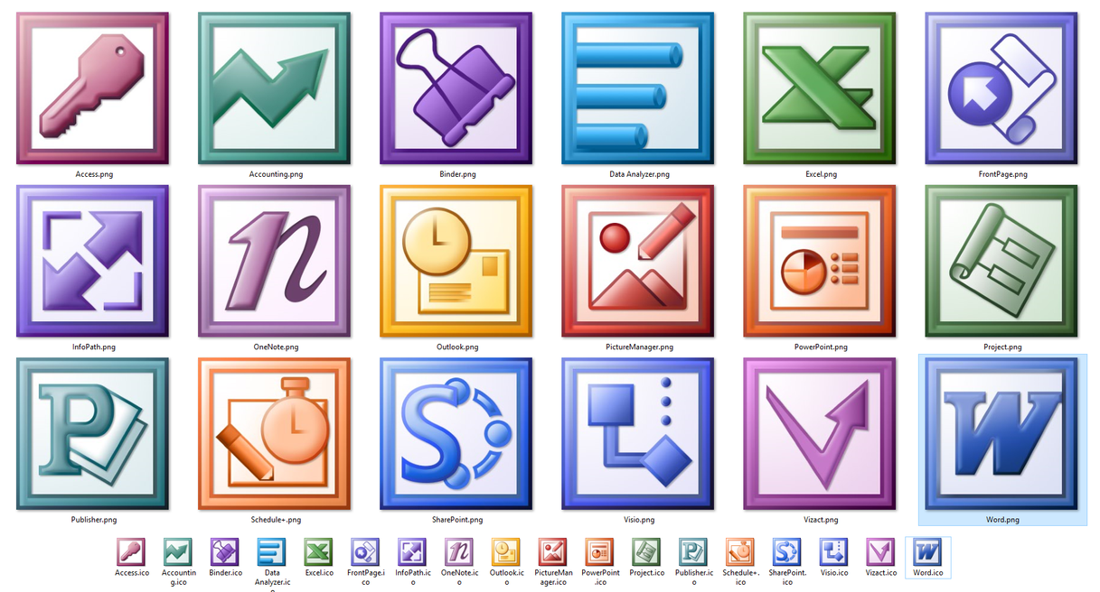 microsoft office 2003 all icons hd by master bit on deviantart