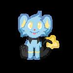 F2U Animated - Pokemon: Shinx Pixel Art by Revy-oli