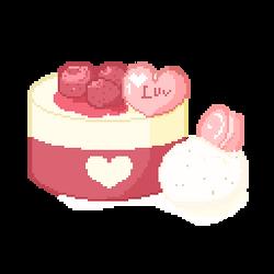 F2U Animated: Valentine's Day Dessert Pixel Art