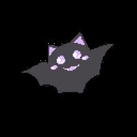 F2U Animated Bouncy Kawaii Pastel Goth Bat Pixel