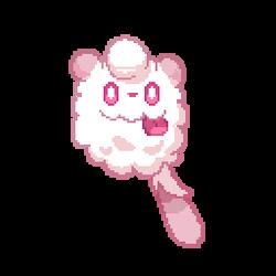 F2U Animated - Pokemon: Swirlix Pixel Art