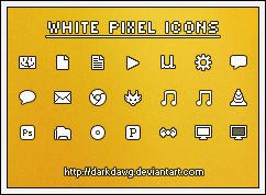 White Pixel Icons