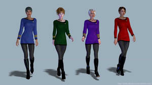 4 Trek girls... by thefooltouchstone
