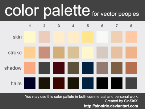 Color Palette 2 Vector People By Sir Sirix On Deviantart