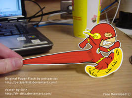 Paper Flash Sticker by Sir-SiriX