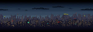 Scrolling City Skyline