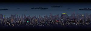 Scrolling City Skyline by lenstu82