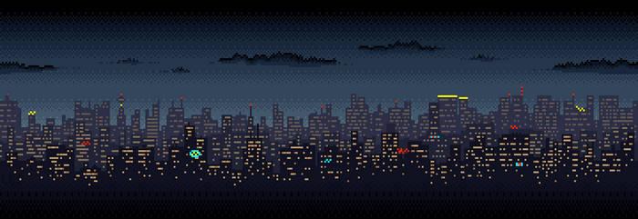 Scrolling City Skyline