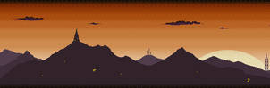 Orange Dawn Mountain Skyline
