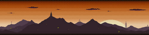 Orange Dawn Mountain Skyline by lenstu82