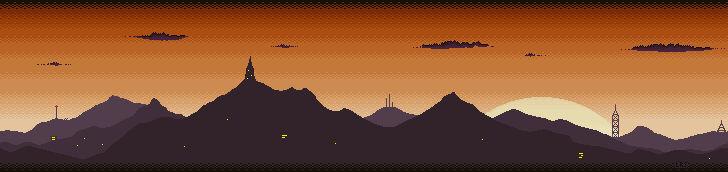 Orange Dawn Mountain Skyline