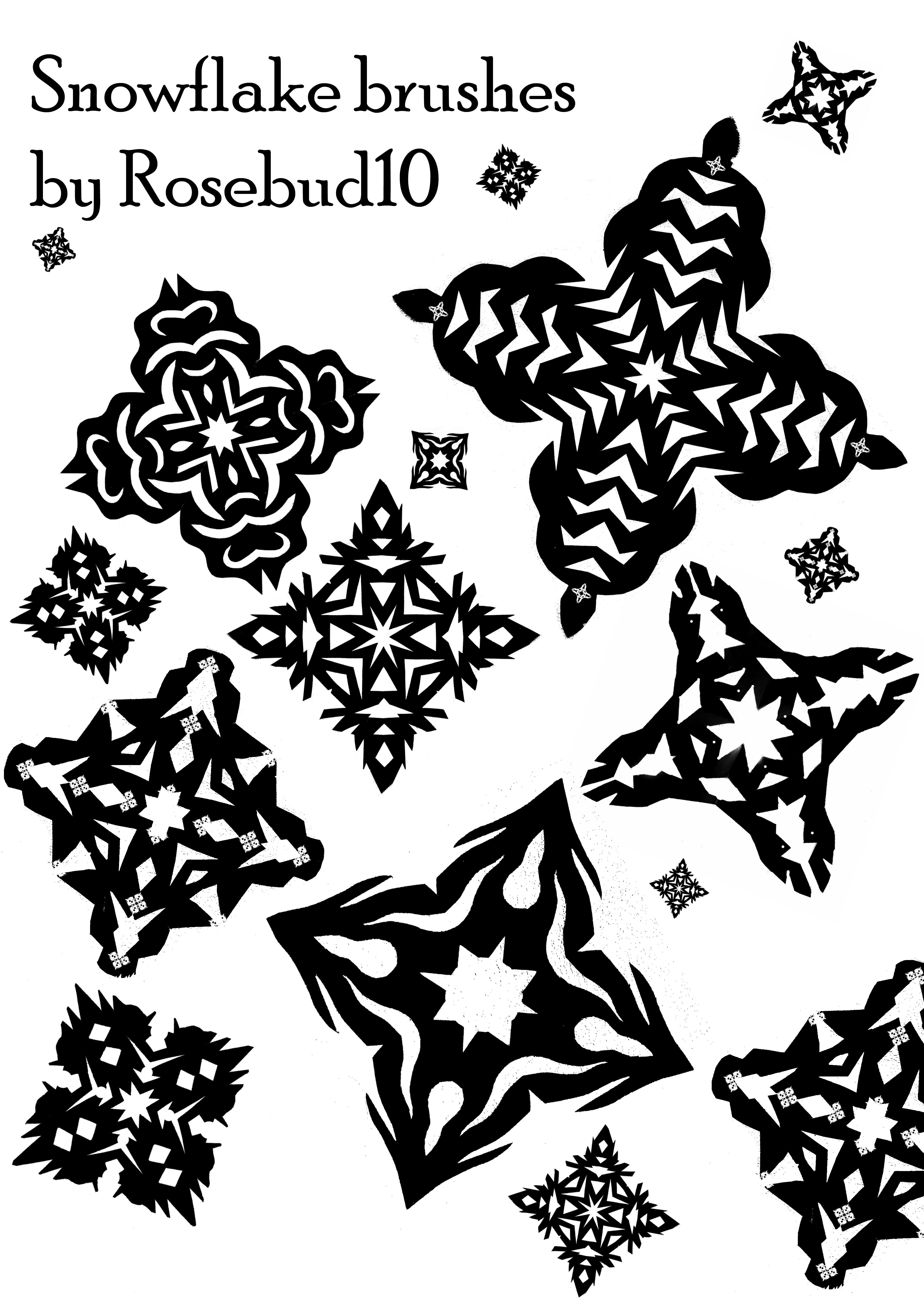 Snowflake brushes by rosebud10