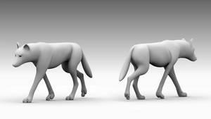 Wolf Walk Cycle Animation