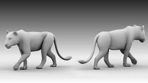 Lion Walk Cycle Animation