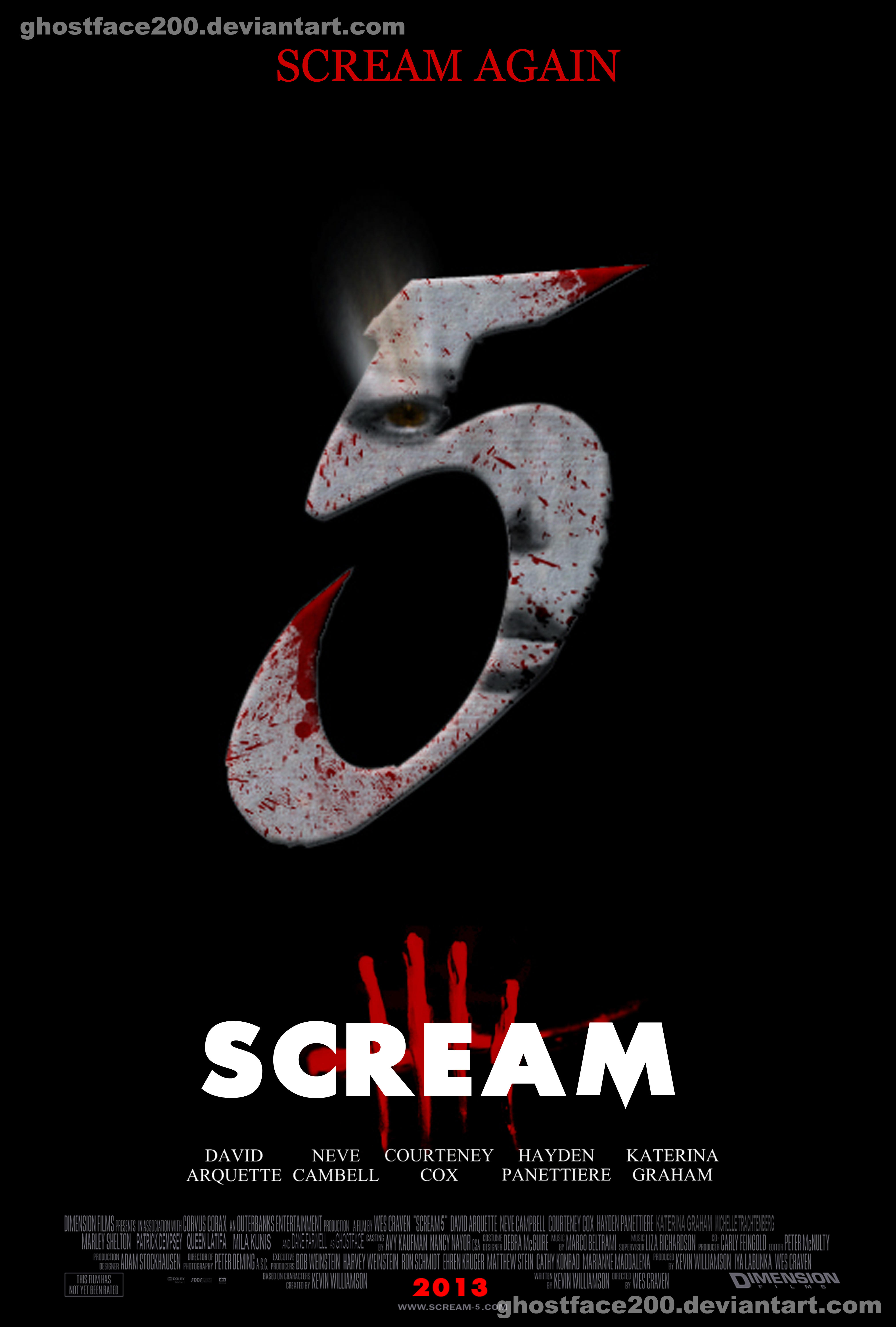 Scream 5 - Number Poster by Ghostface2000 on DeviantArt