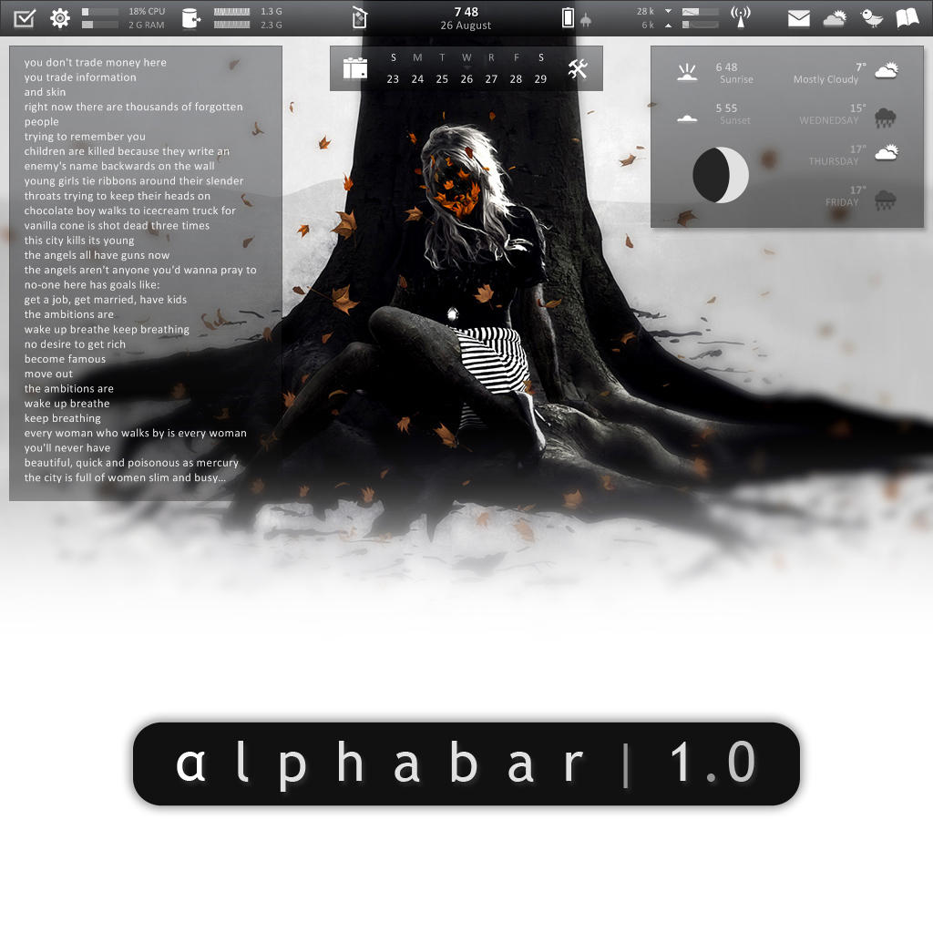 Alphabar 1.0 by redblackproduction