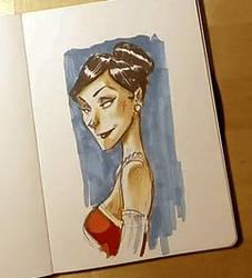 Monsieur Charlatan - Pencil Drawing Adeline by DrSlug