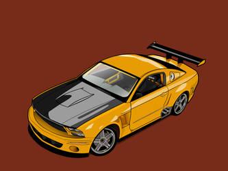 Mustang GTR vector wallpaper by FrenetikFred