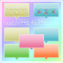 Stock 27 Basi - Targhetta Multicolor