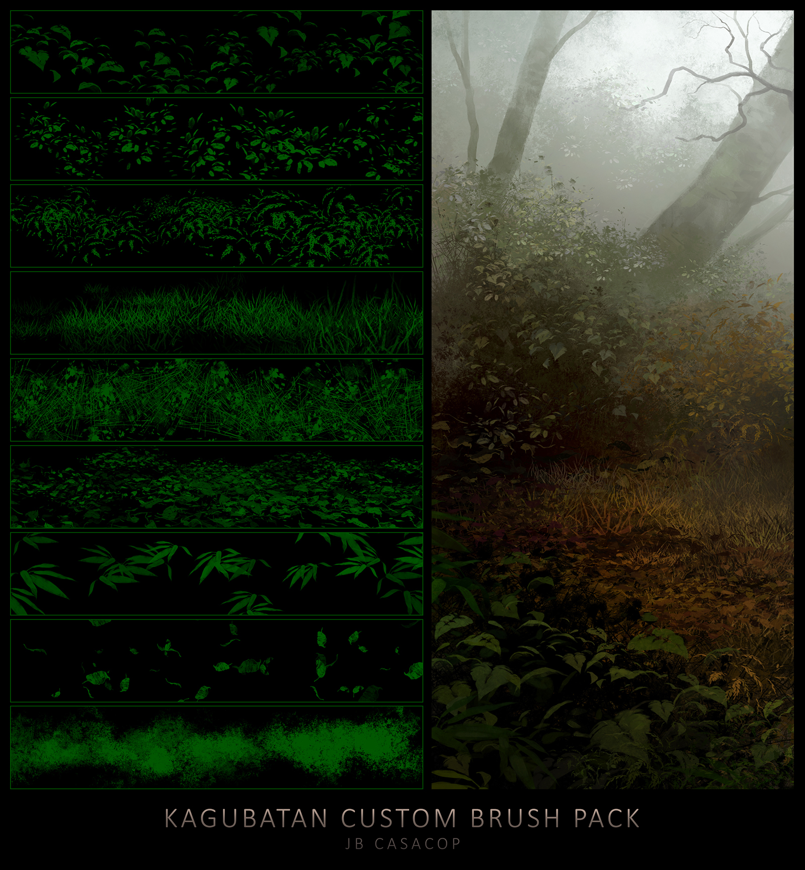 Kagubatan Custom Brush Pack by jbcasacop