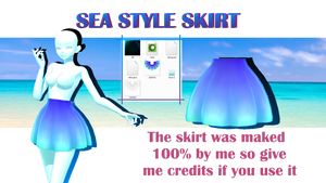 (MMD/METASEQUOIA) Sea Style Skirt DL+