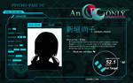 Psycho-Pass - Character Profile Template (GIMP)