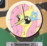 Fluttershy Clock Gadget v1.0 by Lopunny1984