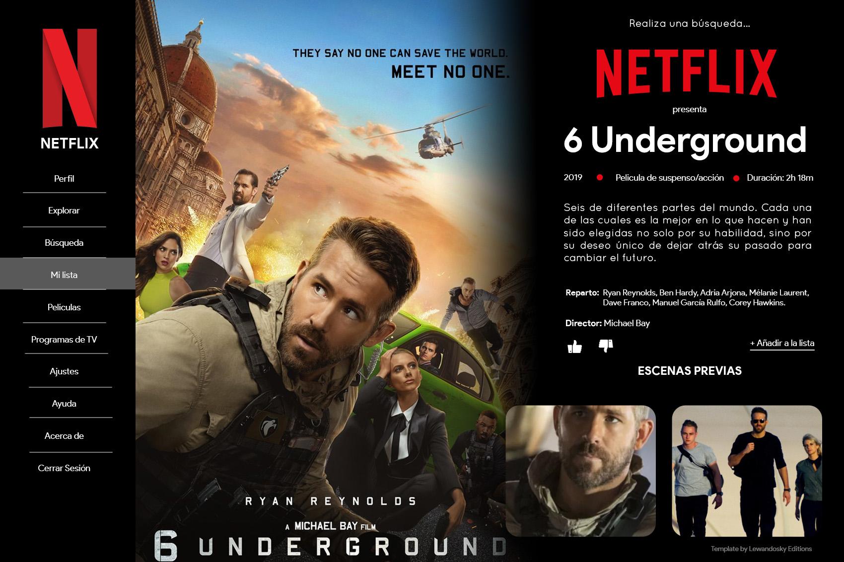 Netflix Template By Lewandowskys On Deviantart